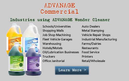 Industries using ADVANAGE Wonder Cleaner